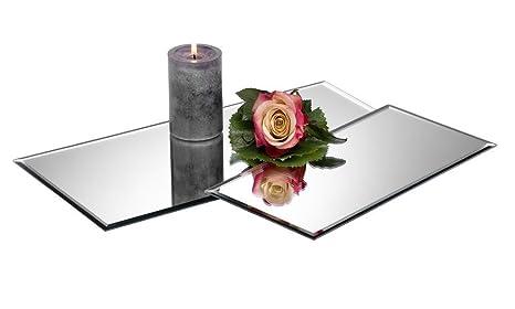 Spiegelplatte Deko.Tischspiegel Spiegelplatte Deko Spiegel 40x20 Cm Glas Sandra Rich