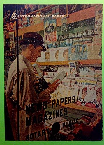 Original 1960s Ad International Paper New Papers Magazines Newsstand