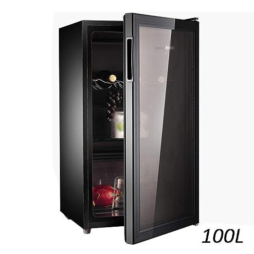Mini Refrigerador Negro 100l Enfriador De Vino Tinto Gabinete De ...