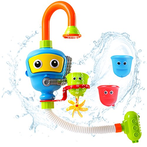 iPlay, iLearn Bath Toy, Bathtub Water Shower Fountain, Bathroom Play Game, Educational Developmental, Activities, Early Development Gift Age 1, 2, 3 Year Olds Baby Kids Boy Girl Toddler Infant by iPlay, iLearn