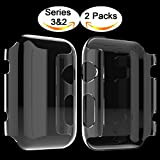 Apple Watch 2 Case, Langboom Apple Watch Screen Protector Ultra-Thin PC Hard Cover Full Coverage Clear Case for iwatch Series 2 42mm (2Pack)