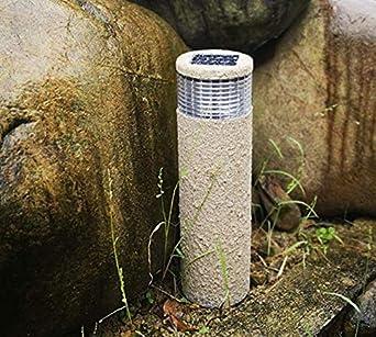 Chorro de arena al aire libre solar decoración de jardín de Navidad LED lámpara de piedra lámpara de jardín para el hogar paisaje luz solar al aire libre: Amazon.es: Iluminación