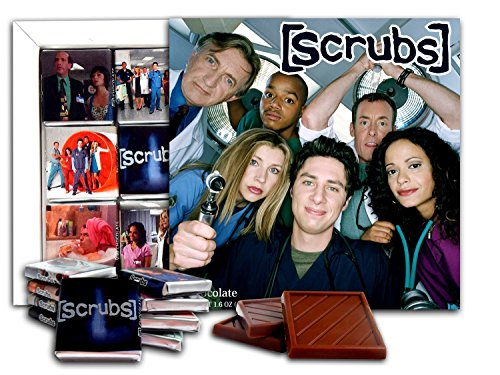 DA CHOCOLATE Souvenir Candy SCRUBS Chocolate Gift Set Famous TV series design 5x5in 1 box (Faces) (Louise Coupe)