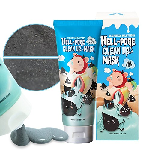 Charcoal Mask To Clear Pores And Detox Skin: Elizavecca Milkypiggy Hell-Pore Clean Up Nose Mask, Liquid