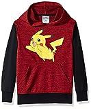 Pokemon Big Boys' Pikachu Pullover Hoodie, Red/Black, Small-10