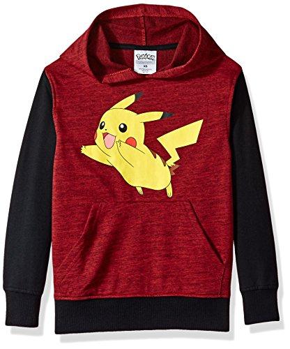 Pokemon Big Boys' Pikachu Pullover Hoodie, red/black, Medium-12]()
