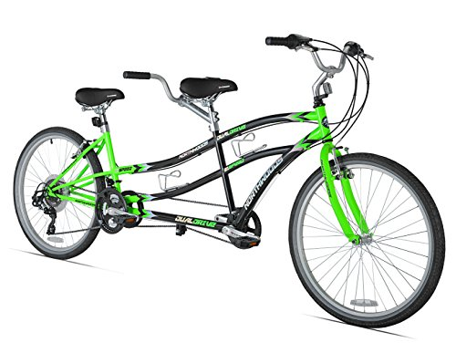 (Northwoods Dual Drive Tandem Bike, 26-Inch, Green/Black)