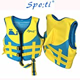Rayma Cute Cartoon Infant Buoyant Life Jacket Swimwear Folding Life Vest For Children's Water Sports & Games Equipment as a buoyant-aid-tool Cute Whale Pattern Colour Blue (Small)