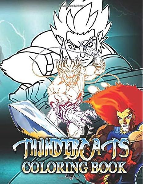 Thundercats Coloring Book Thundercats Adult Coloring Books Nicholson Sonny 9798646270963 Amazon Com Books