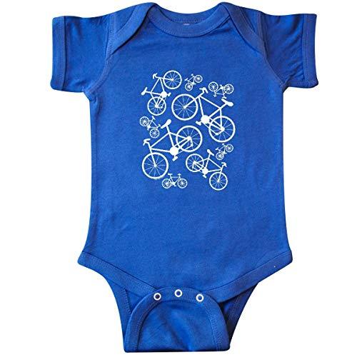 inktastic - White Big/Small Bikes Infant Creeper 6 Months Royal Blue 2694b