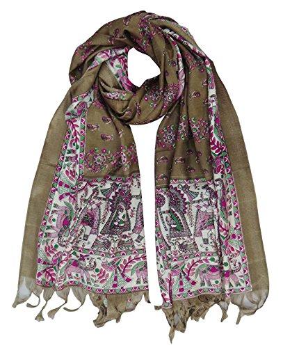 abrigo seda Aboutyou cuello Art mant Dupatta bufanda Hijab EEzIq