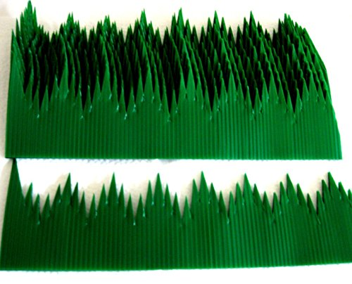 100pcs Japan Sushi Decoration Anti Bacterial Long Baran Grass Green Leaf -