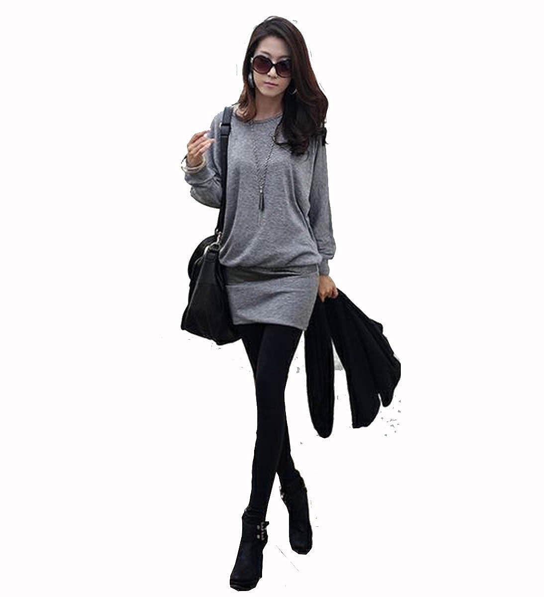 Mississhop Damen Minikleid festlich Glitzer Kleid Pulli Tunika S M L XL XXL