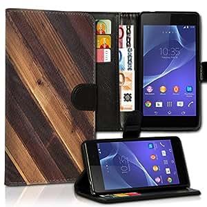 Wallet Wicostar–Funda Case Funda Carcasa Funda De Diseño Para Sony Xperia Z3Compact–Diseño Flip mvd35