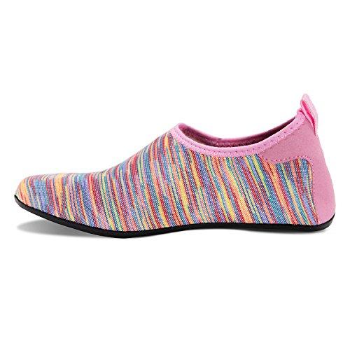 Rutschfeste Yoga Aqua Schwimmen Strandschuhe Leicht Jb Schuhe Herren Damen für rosa Badeschuhe Barfuß Wassersport q8ASAn