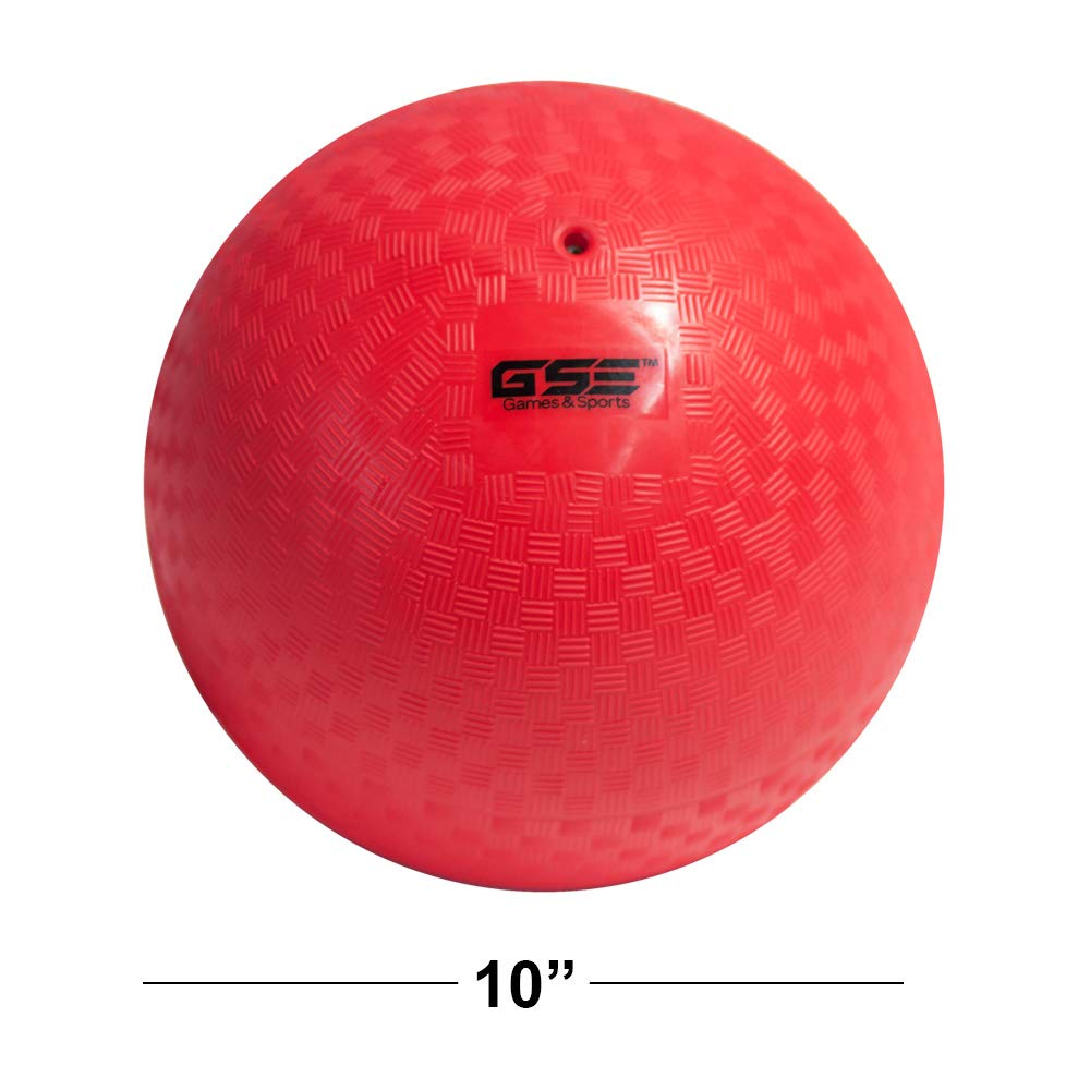 GSE Games & Sports Expert 10-inch Classic Inflatable Playground Balls (5 Colors Available) (4 Pack - Red/Purple/Blue/Orange) by GSE Games & Sports Expert (Image #2)