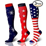 3 Pairs Compression Socks For Women and Men - Best Medical, Nursing, for Running, Athletic, Edema, Diabetic, Varicose Veins, Travel, Pregnancy & Maternity - 20-25mmHg (Assorted 1, Small/Medium)