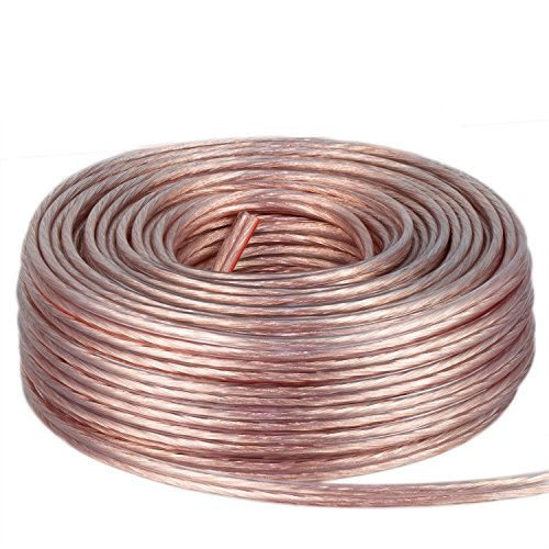 DCSk 2x1,5mm² 25m Kupfer Lautsprecher Boxen Kabel Ring transparent - reines Vollkupfer