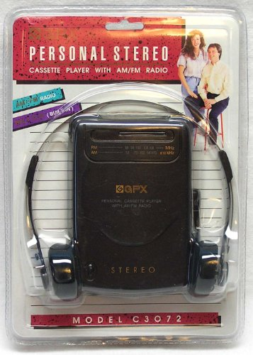 GPX Model C3072 Personal Stereo Casstte Player With AM/FM Radio