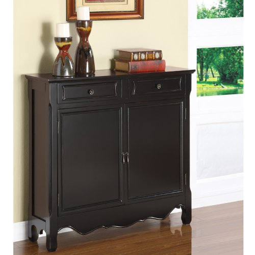Powell Black 2-Door Console (Black Console Table With Doors)