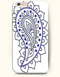 SevenArc Apple iPhone 6 Plus 5.5' 5.5 Inches Case Paisley Pattern ( Simple Beautiful Blue Paisely Flower )