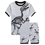 Little Boy Pajamas Sets,Jchen Baby Kids Boy Cartoon Dinosaur Tops+Dinosaur Shorts Homewear Sleepwear Outfits for 1-7 Y (Age:5-6 Years, Gray)