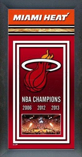 (Miami Heat 2013 NBA Champions Banner 14.5