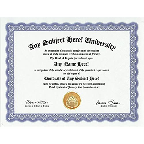 joke christmas gifts com custom gag gift personalized joke diploma college doctorate degree award certificate funny customized christmas holiday or birthday present novelty item