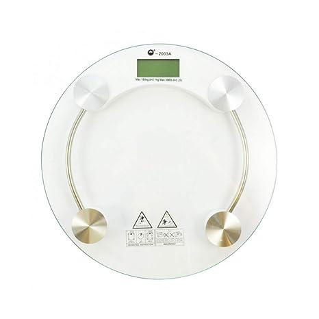 girm® – hx810732 Báscula Báscula Digital de cristal redonda – Báscula Pesa Persona electrónica multicolor