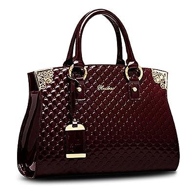 Women's Patent Leather Handbags Designer Totes Purse Satchels Shoulder Handbag Fashion Embossed Top Handle Bags