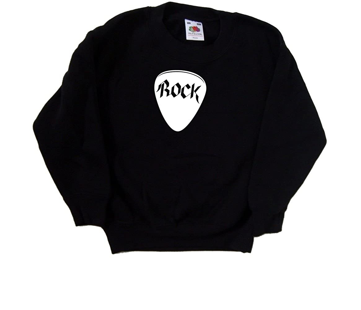 Rock Plectrum Pick Black Kids Sweatshirt