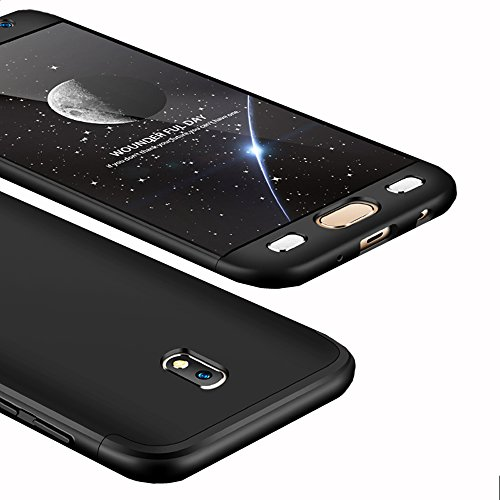 Galaxy J5 Pro Case, Ranyi [Full Body 3 in 1] [Slim & Thin Fit Tightly] [360 Degree Protection] Hybrid Bumper 3 in 1 Hard Case for Samsung Galaxy J5 Pro International Version (2017), black