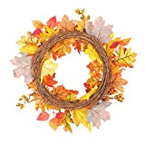 iBaste_Wreath Wreath Home Decoration Hotel Shopping Mall Decoration Pendant Wreath Autumn Christmas