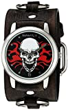 De los hombres némesis 922FRBK la serie Calavera en llamas de cuarzo japonés con visualización analógica Negro Reloj