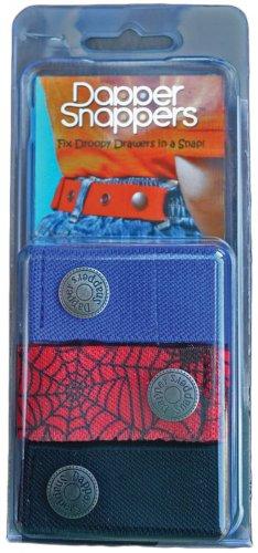 Dapper Snapper Baby & Toddler Adjustable Belt 3 Pack - Royal Blue Spiders Black