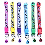 6 pcs/Set Soft Nylon Camo Puppy Kitten Pet Cat Dog Collar Adjustable Whelping Litter Collars with Bell