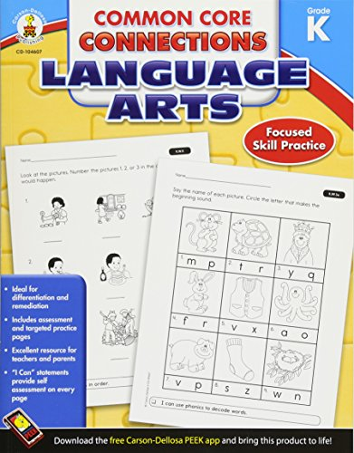 Common Core Connections Language Arts, Grade K