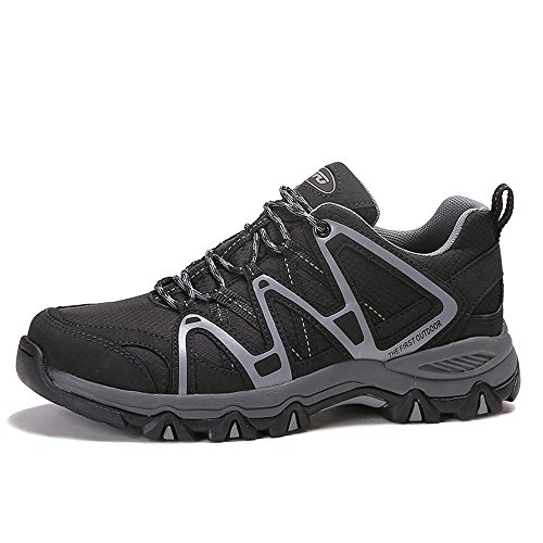 amp; Womens Unisex Waterproof Sneakers Black Running Tex First Mens First Lace Outdoor Shoes Grey Hiking Lightweight The Sports Up Trekking 7RFtIwI