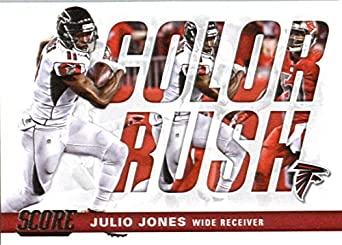 Amazon.com  2017 Score Color Rush  9 Julio Jones Atlanta Falcons Football  Card  Collectibles   Fine Art 060d7346a