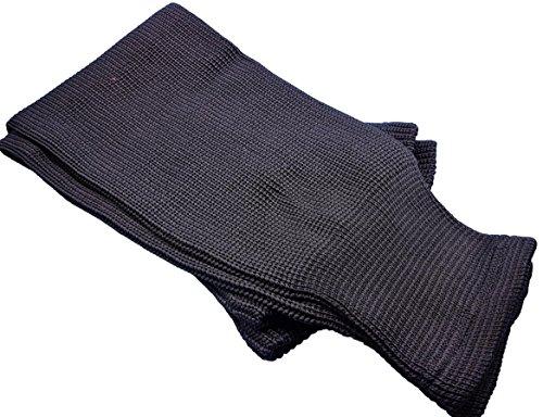 Hockey Socks Knit Made in Canada for Hockey Players (Senior 32, 13 Black)