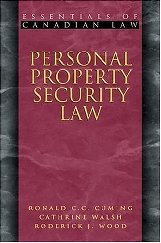 Personal Property Security Law (Essentials of Canadian Law) pdf epub