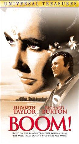 Boom! [USA] [VHS]: Amazon.es: Elizabeth Taylor, Richard Burton, Noel Coward, Joanna Shimkus, Michael Dunn, Romolo Valli, Fernando Piazza, Veronica Wells, ...