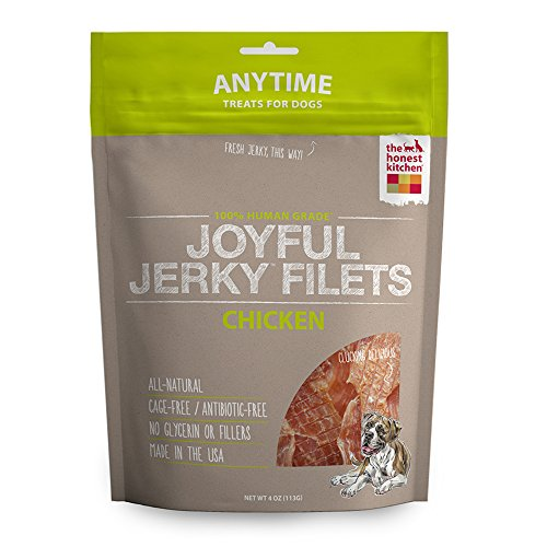 The Honest Kitchen Joyful Jerky: Natural Human Grade Dehydrated Jerky Dog Treats, Chicken Filets, 4 oz
