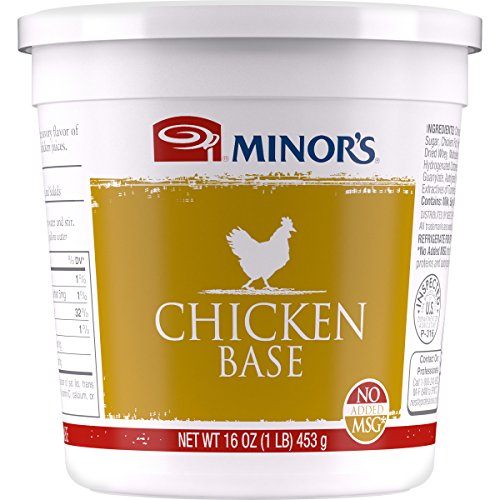 Minor's Chicken Base, Instant Chicken Stock, Bouillon, No Added MSG, Zero Trans Fat, Poultry Flavor, 16 oz