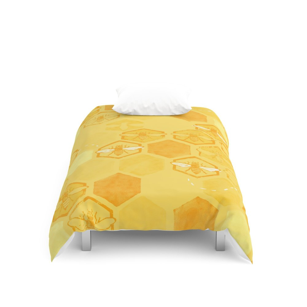 Society6 Dance of Bees Duvet Covers Twin XL: 68'' x 92''