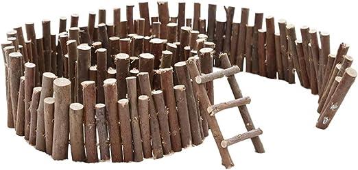 Amosfun jardín de Hadas Miniatura Micro Paisaje Ornamento Cerca de Adorno Navidad Micro Planta decoración Escalera Ornamento: Amazon.es: Juguetes y juegos