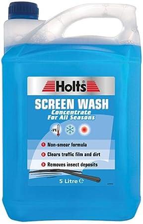 Líquido concentrado lavaparabrisas, frasco de 5 litros código Hscw1101a de Holts: Amazon.es: Coche y moto
