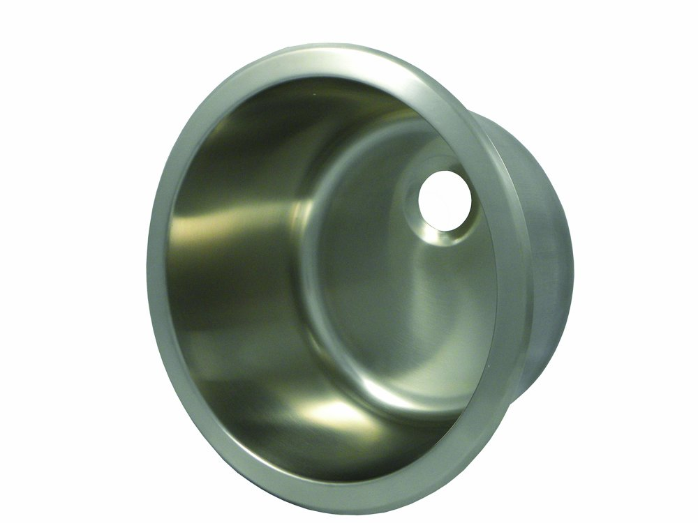 Opella 14127.046 12 Diameter Round Bar Sink, Brushed Stainless Steel