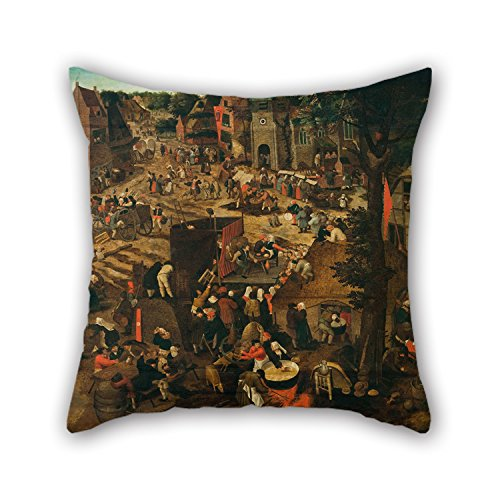 Slimmingpiggy The Oil Painting Pieter Brueghel II (The Younger) - A Village Fair (Village Festival In Honour Of Saint Hubert And Saint Anthony) Cushion Covers Of ,20 X 20 Inches / 50 By 50 Cm