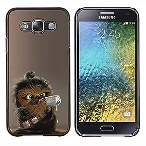 EJOOY---Cubierta de la caja de protección para la piel dura ** Samsung Galaxy E5 E500 ** --Lindo Wookie Chewie Guerra de las Galaxias